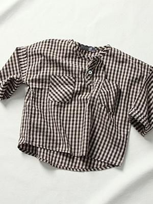 CREAMCOK - BRAND - Korean Children Fashion - #Kfashion4kids - Sentimental Henry Shirt