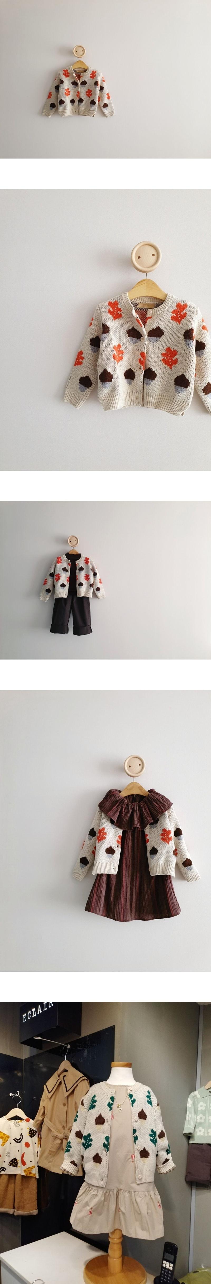 ECLAIR - Korean Children Fashion - #Kfashion4kids - Nut Cardigan