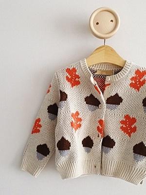 ECLAIR - BRAND - Korean Children Fashion - #Kfashion4kids - Nut Cardigan