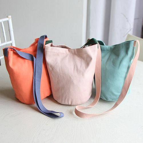 JIREH BOW - BRAND - Korean Children Fashion - #Kfashion4kids - Canvas Round Cross Bag