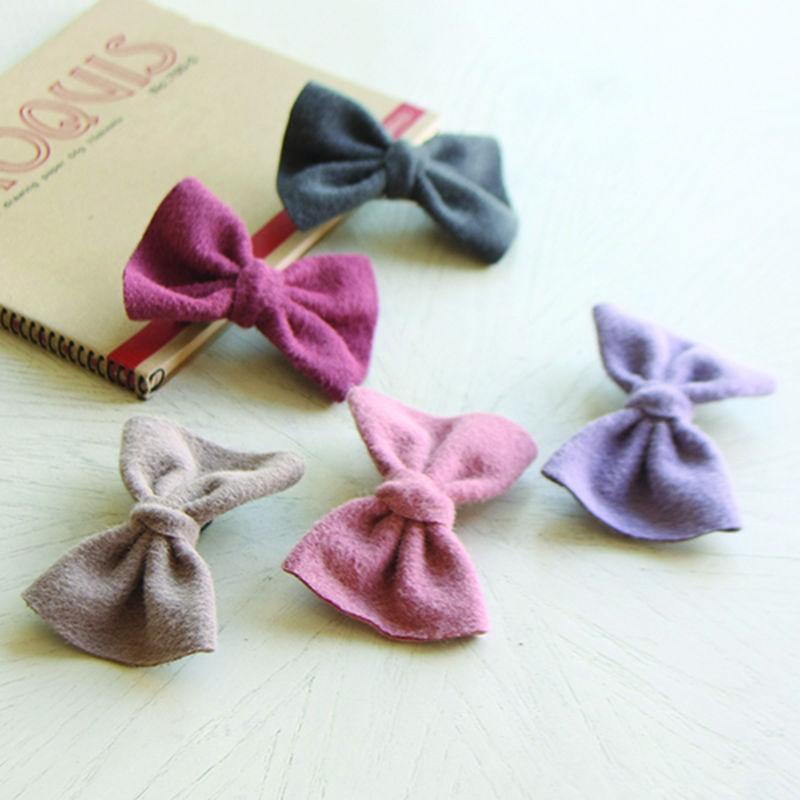 JIREH BOW - BRAND - Korean Children Fashion - #Kfashion4kids - Odds Big Ribbon Hairpin [set of 5]
