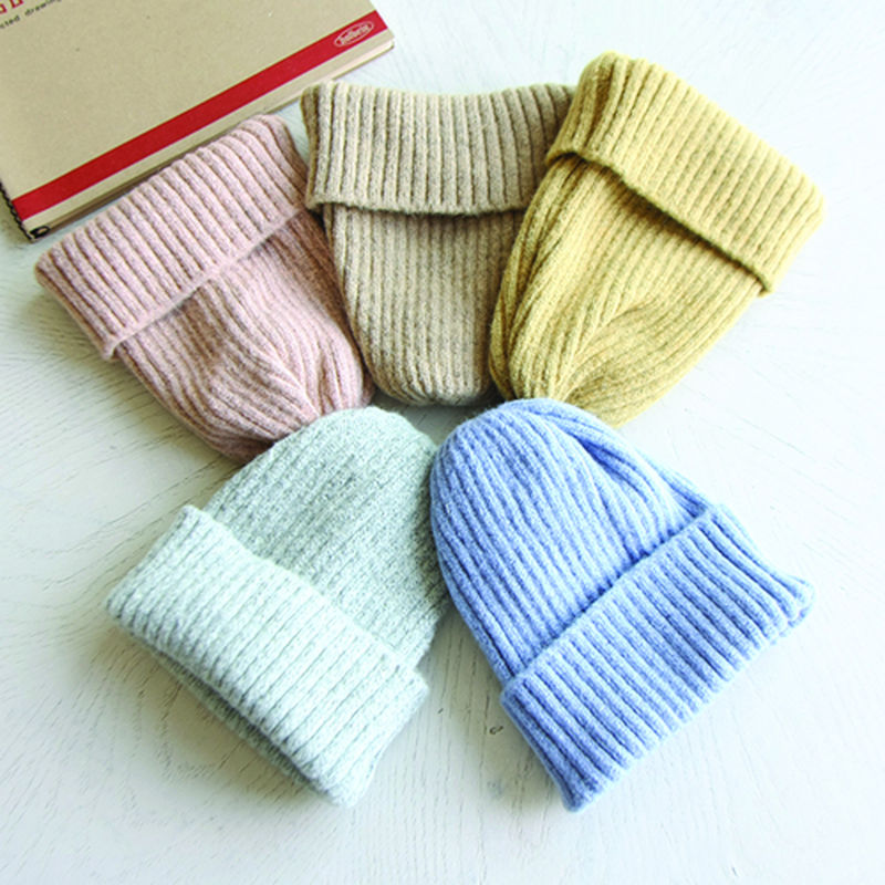 JIREH BOW - BRAND - Korean Children Fashion - #Kfashion4kids - Wool Ribbed Beanie