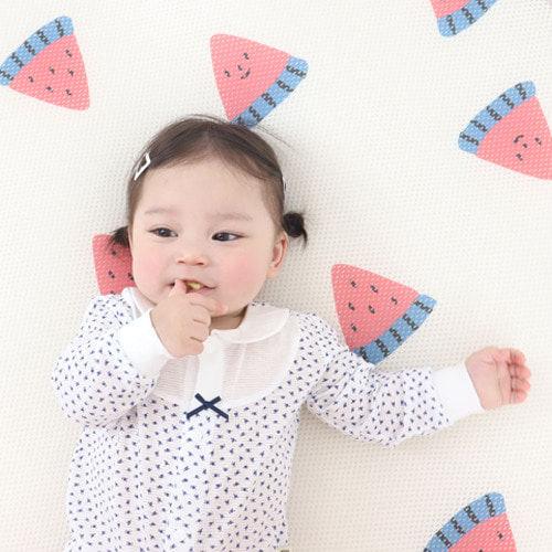 MEREBE - BRAND - Korean Children Fashion - #Kfashion4kids - Watermelon Air Mesh Mat with Bag