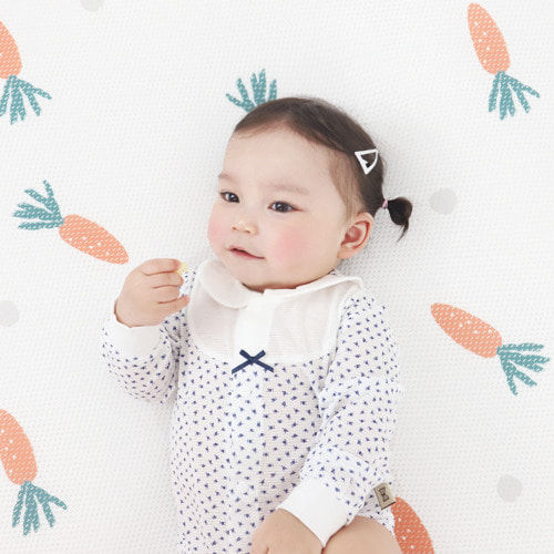 MEREBE - BRAND - Korean Children Fashion - #Kfashion4kids - Carrot Air Mesh Mat with Bag