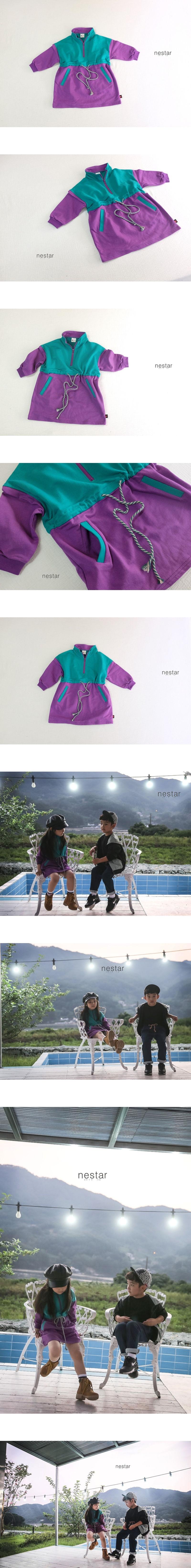 NESTAR - Korean Children Fashion - #Kfashion4kids - Colored String One-piece