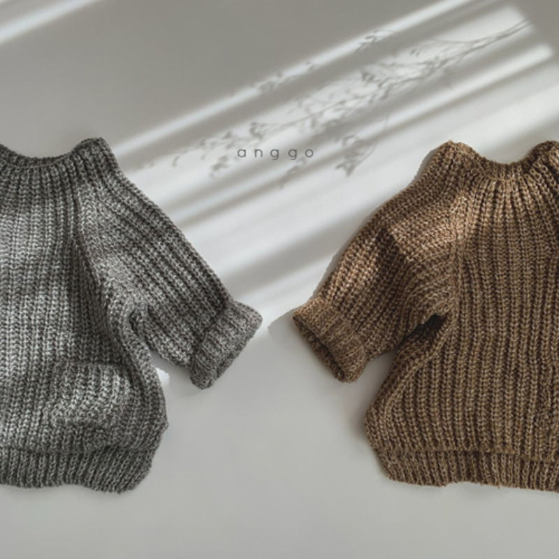 ANGGO - Korean Children Fashion - #Kfashion4kids - Baguette Knit Top
