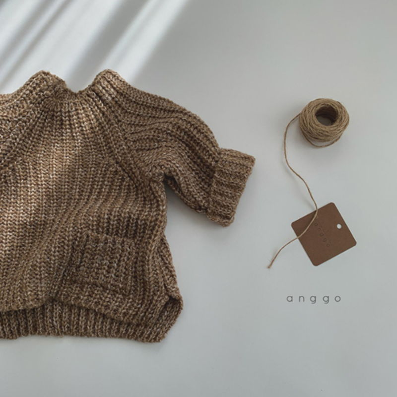 ANGGO - Korean Children Fashion - #Kfashion4kids - Baguette Knit Top - 2