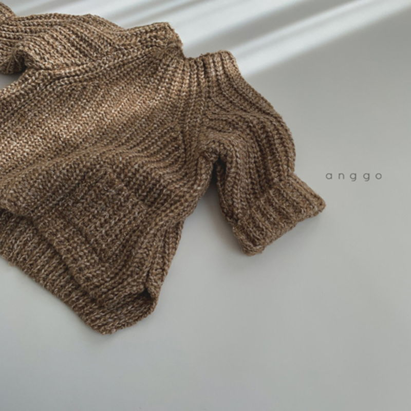 ANGGO - Korean Children Fashion - #Kfashion4kids - Baguette Knit Top - 3