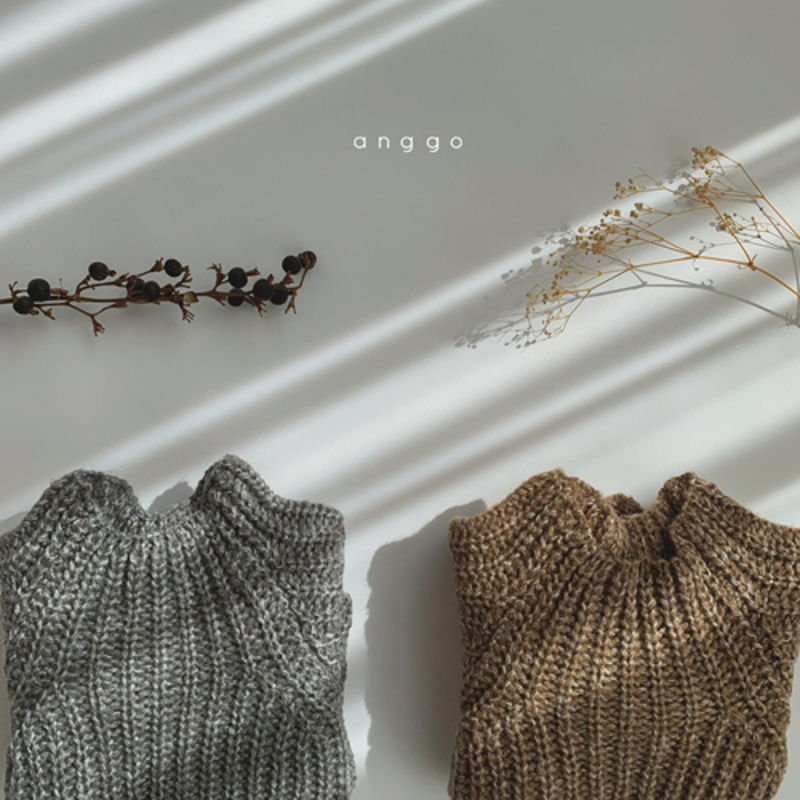 ANGGO - BRAND - Korean Children Fashion - #Kfashion4kids - Baguette Knit Top