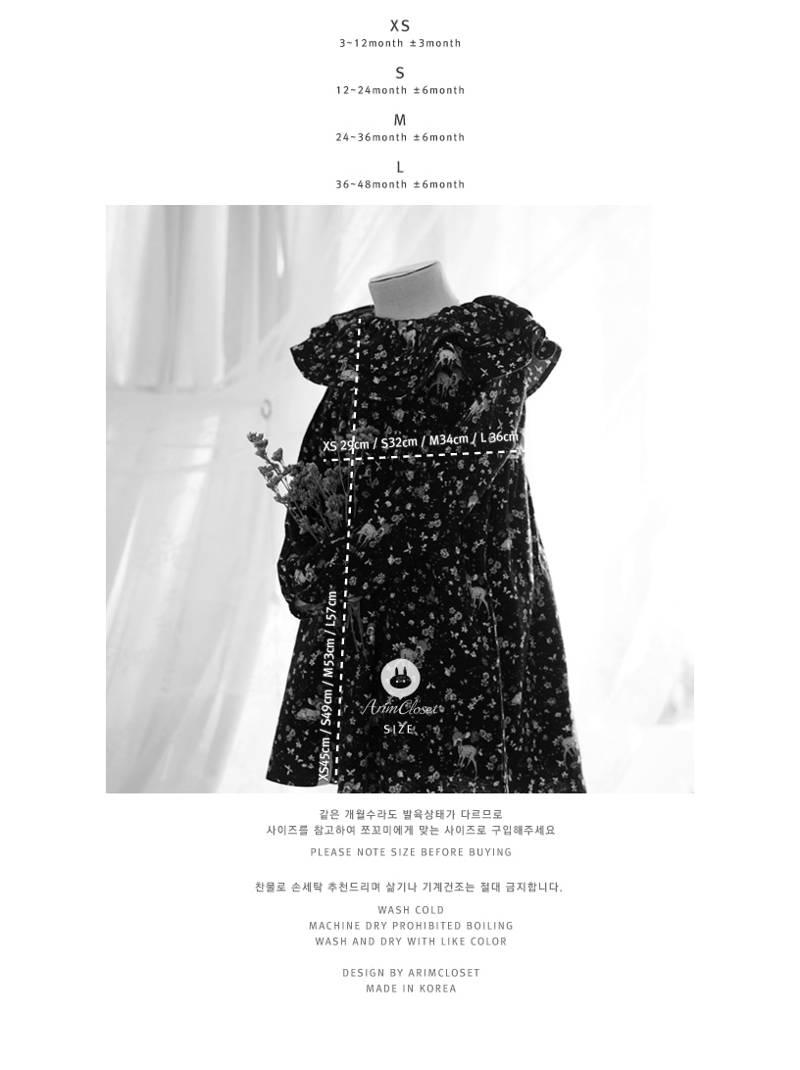 ARIM CLOSET - Korean Children Fashion - #Kfashion4kids - Lovely Flower Bambi Dress - 3