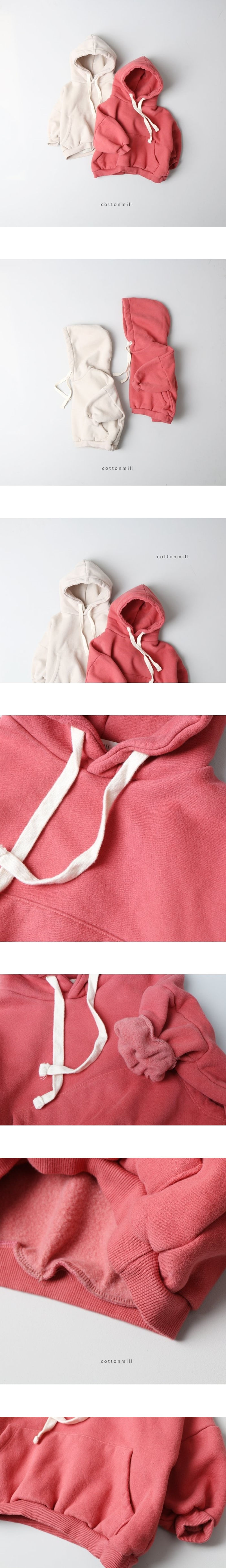 COTTON MILL - Korean Children Fashion - #Kfashion4kids - Loose Fleece Hood Top