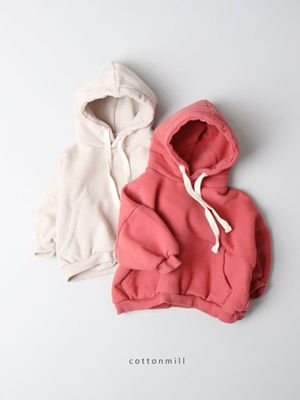 COTTON MILL - BRAND - Korean Children Fashion - #Kfashion4kids - Loose Fleece Hood Top