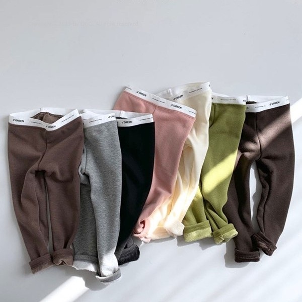 DIGREEN - BRAND - Korean Children Fashion - #Kfashion4kids - Mango Fleece Leggings