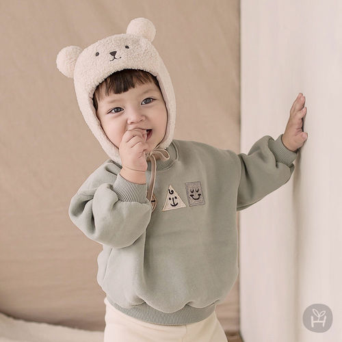 HAPPY PRINCE - BRAND - Korean Children Fashion - #Kfashion4kids - Georgia Fleece Lined Sweatshirt