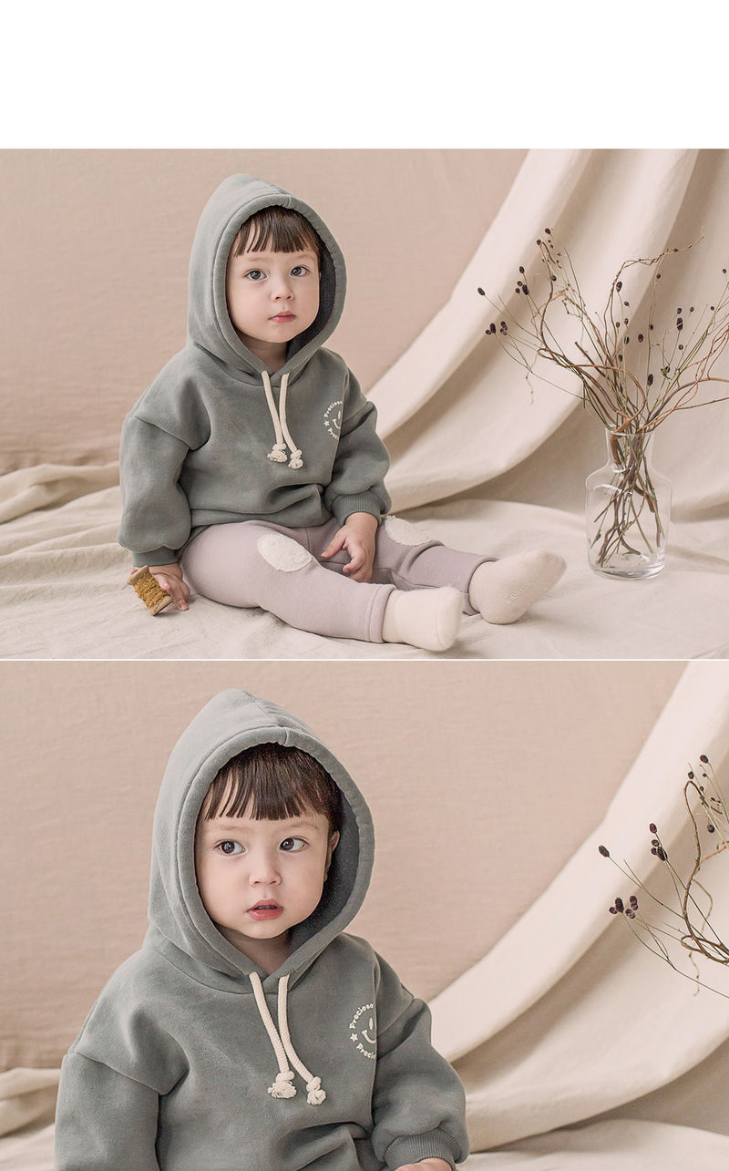 HAPPY PRINCE - Korean Children Fashion - #Kfashion4kids - Kai Hood Fleece Lined Sweatshirt - 7