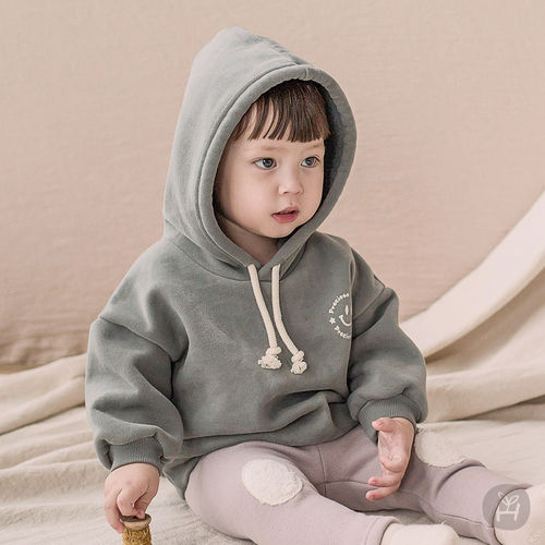 HAPPY PRINCE - BRAND - Korean Children Fashion - #Kfashion4kids - Kai Hood Fleece Lined Sweatshirt