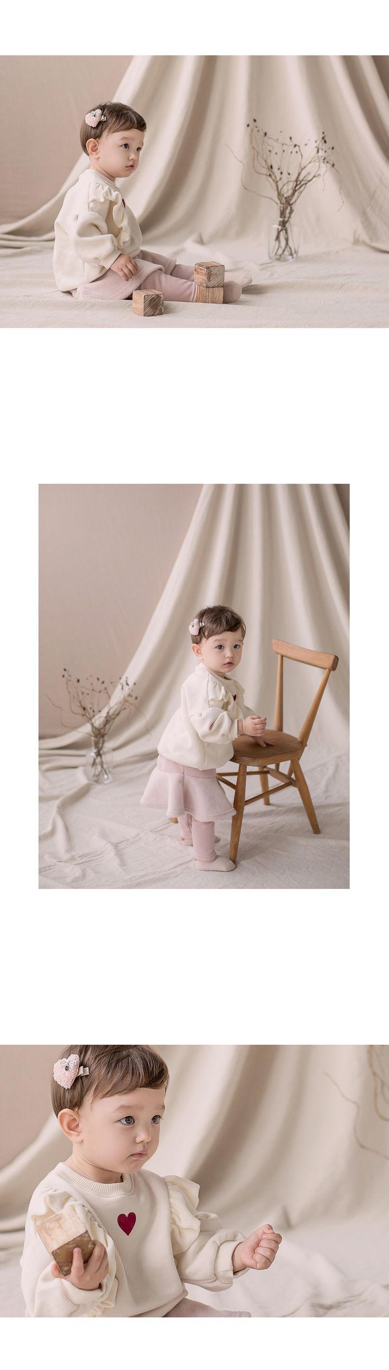 HAPPY PRINCE - Korean Children Fashion - #Kfashion4kids - Shelly Frill Fleece Lined Sweatshirt - 4