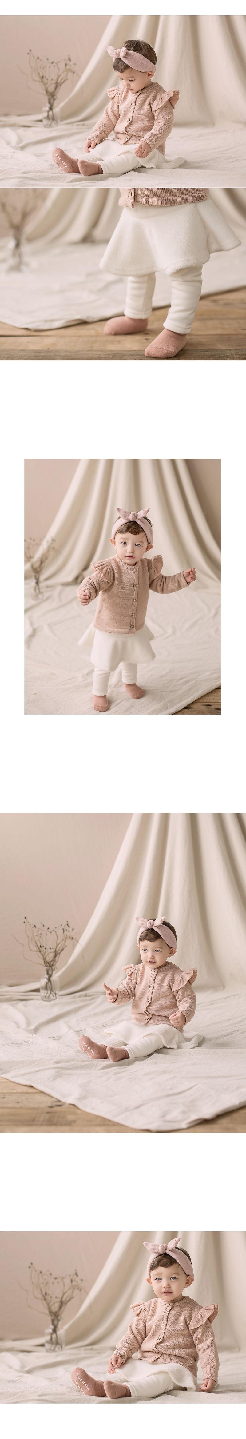 HAPPY PRINCE - Korean Children Fashion - #Kfashion4kids - Czech Fleece Lined Skirt Leggings - 2