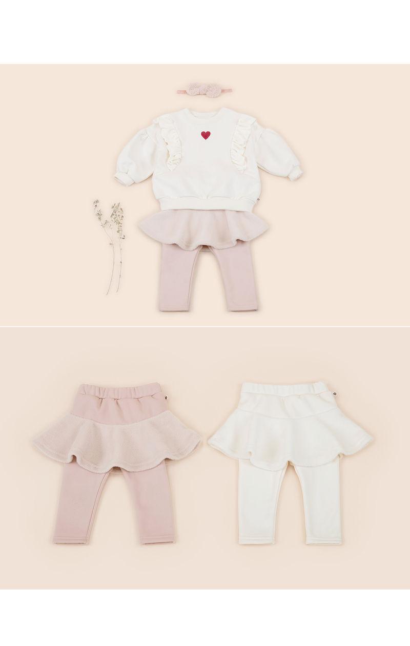 HAPPY PRINCE - Korean Children Fashion - #Kfashion4kids - Czech Fleece Lined Skirt Leggings - 3