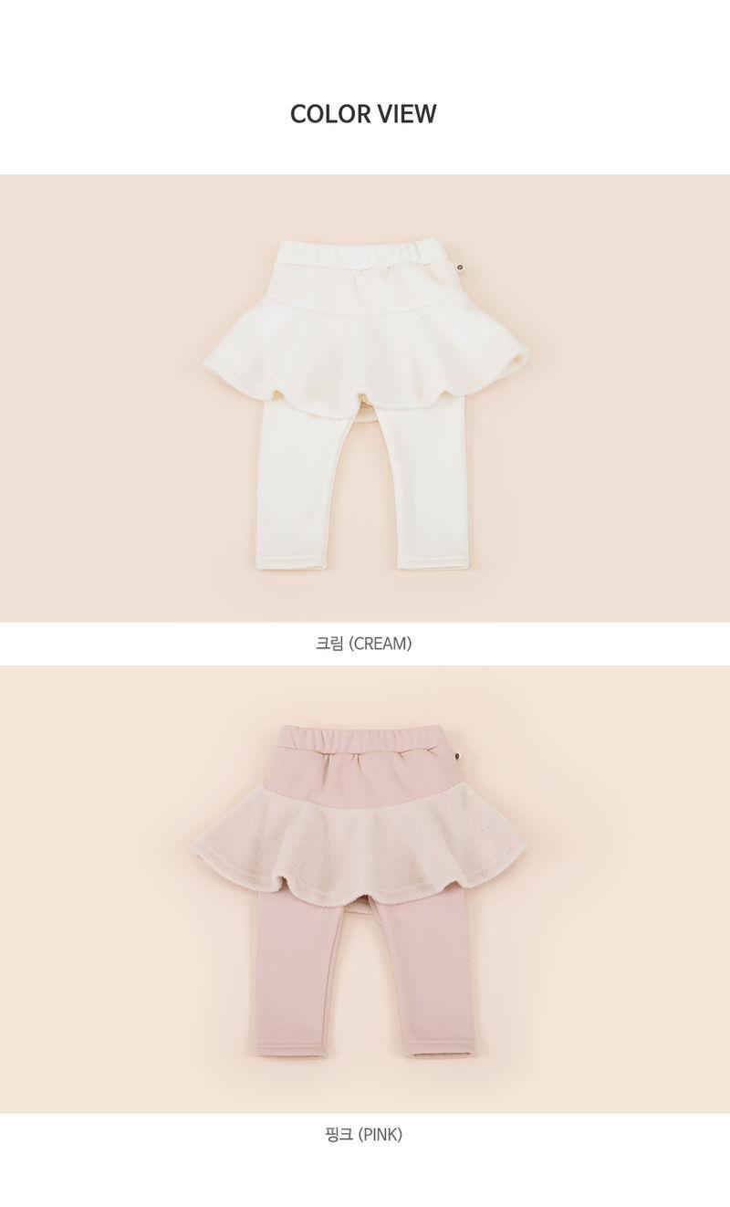 HAPPY PRINCE - Korean Children Fashion - #Kfashion4kids - Czech Fleece Lined Skirt Leggings - 6