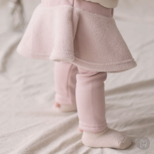 HAPPY PRINCE - BRAND - Korean Children Fashion - #Kfashion4kids - Czech Fleece Lined Skirt Leggings