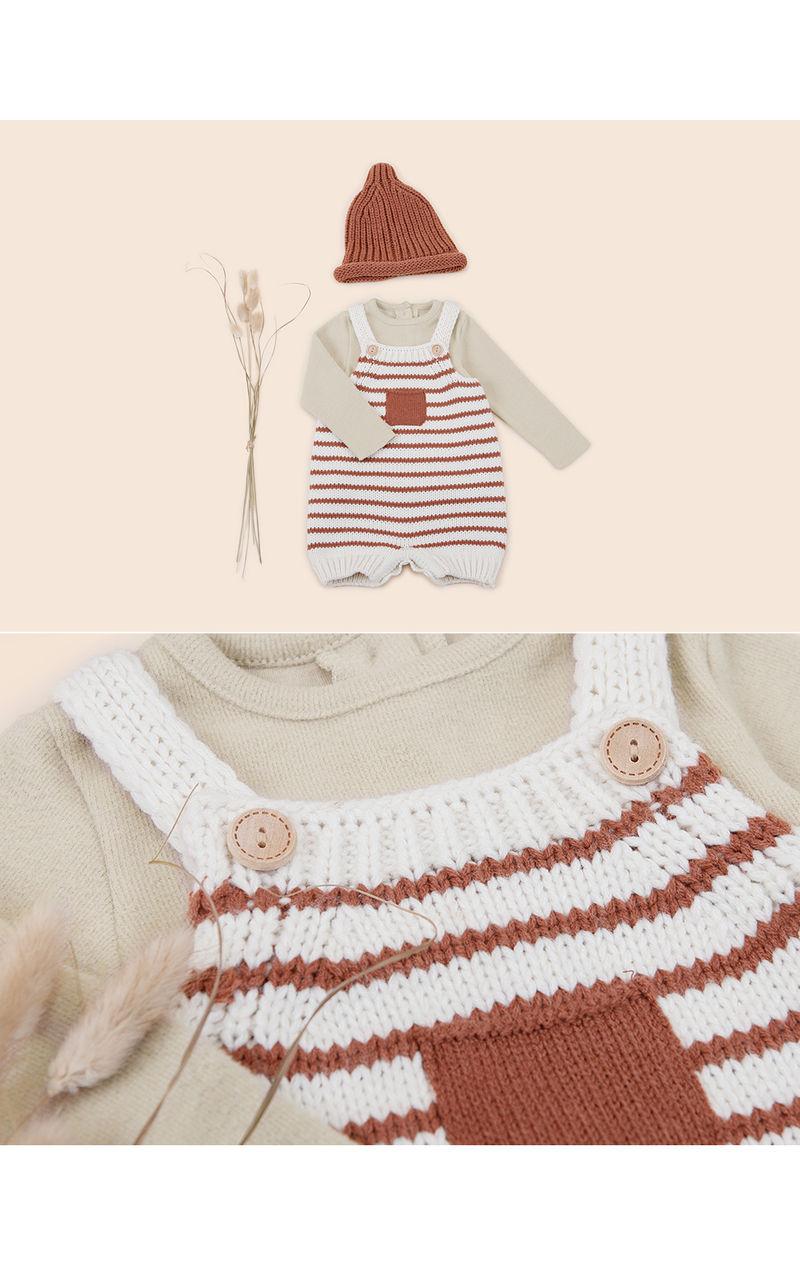HAPPY PRINCE - Korean Children Fashion - #Kfashion4kids - Anna Knit Overall - 4