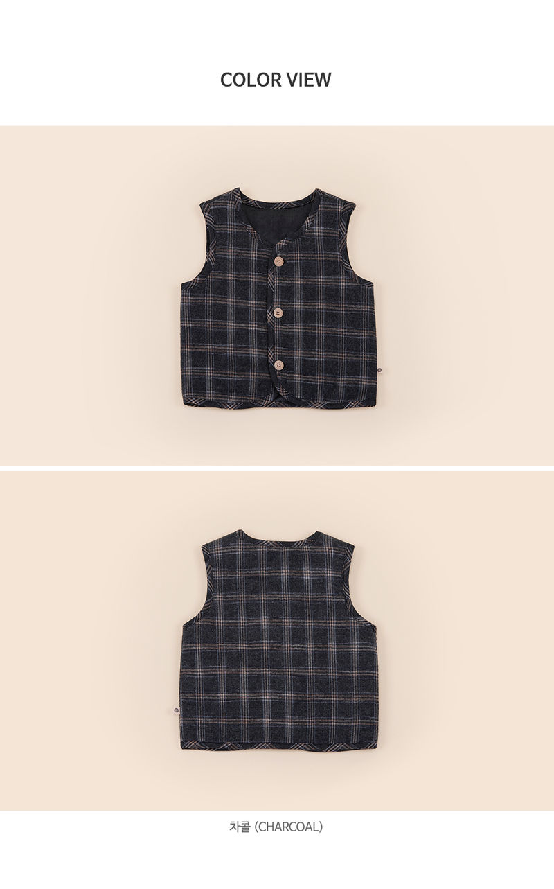 HAPPY PRINCE - Korean Children Fashion - #Kfashion4kids - Aaron Quilt Vest - 7