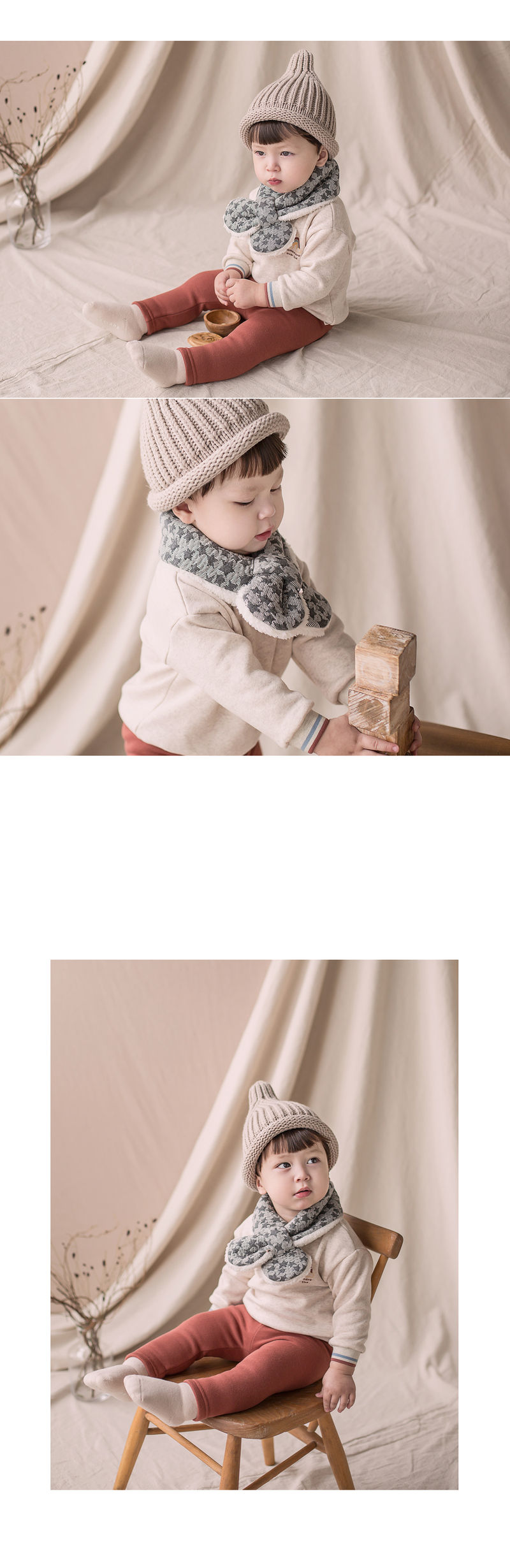 HAPPY PRINCE - Korean Children Fashion - #Kfashion4kids - Lily Star Snow Neckie Muffler - 2