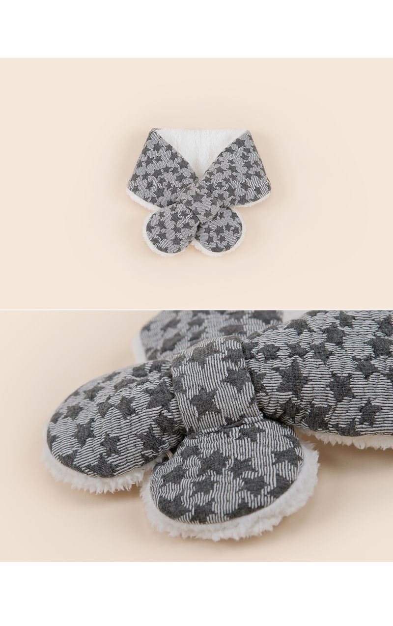 HAPPY PRINCE - Korean Children Fashion - #Kfashion4kids - Lily Star Snow Neckie Muffler - 3