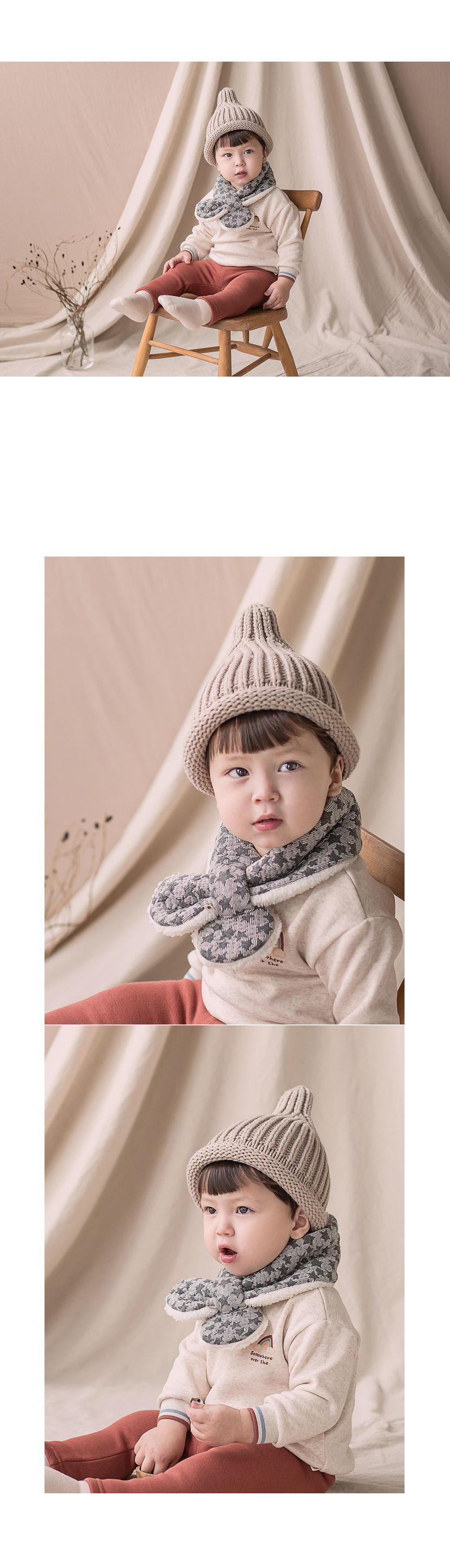 HAPPY PRINCE - Korean Children Fashion - #Kfashion4kids - Lily Star Snow Neckie Muffler - 4