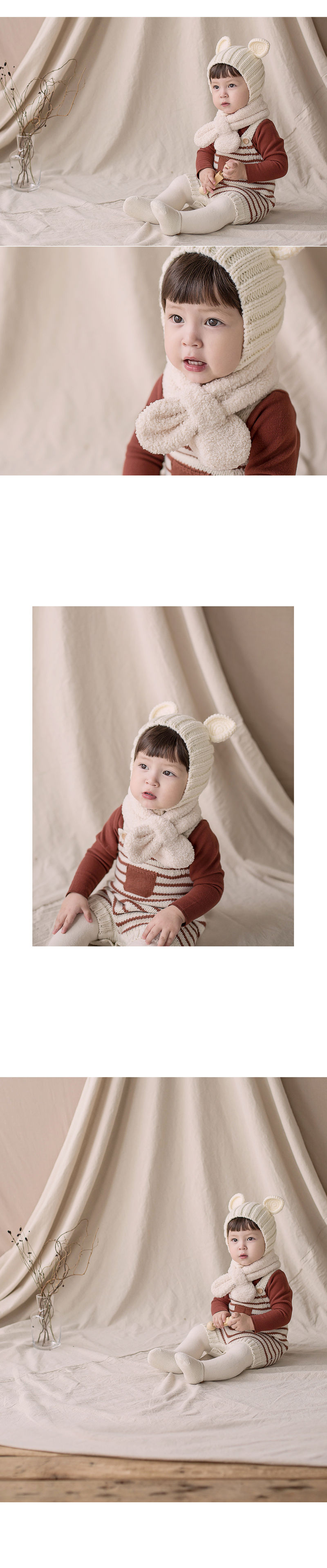 HAPPY PRINCE - Korean Children Fashion - #Kfashion4kids - Aubrey Snow Neckie Muffler - 2