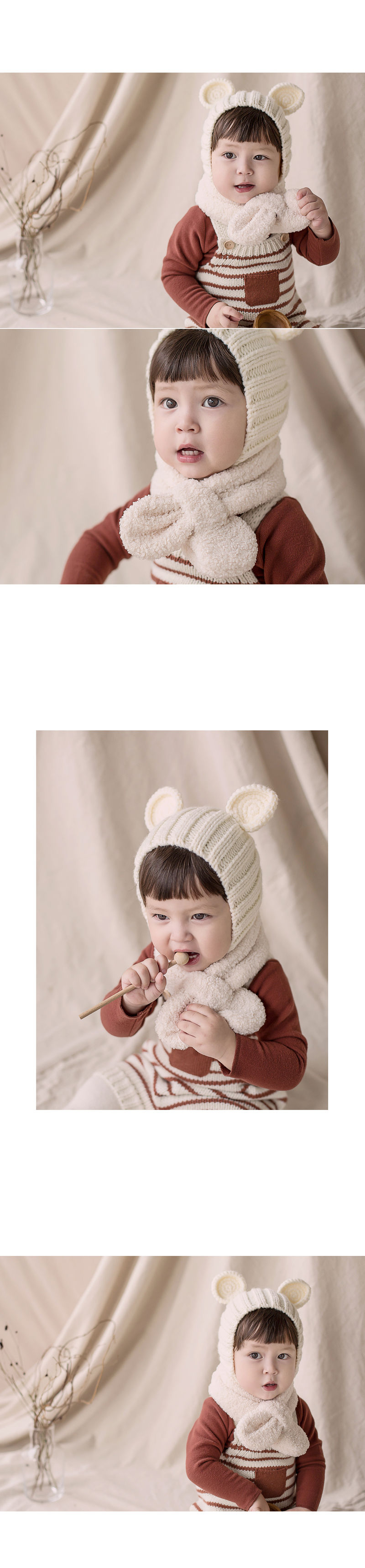 HAPPY PRINCE - Korean Children Fashion - #Kfashion4kids - Aubrey Snow Neckie Muffler - 3