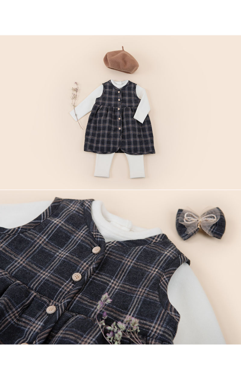 HAPPY PRINCE - Korean Children Fashion - #Kfashion4kids - Ivy Quilt Vest One-piece - 4