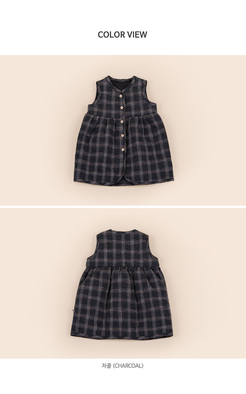 HAPPY PRINCE - Korean Children Fashion - #Kfashion4kids - Ivy Quilt Vest One-piece - 7