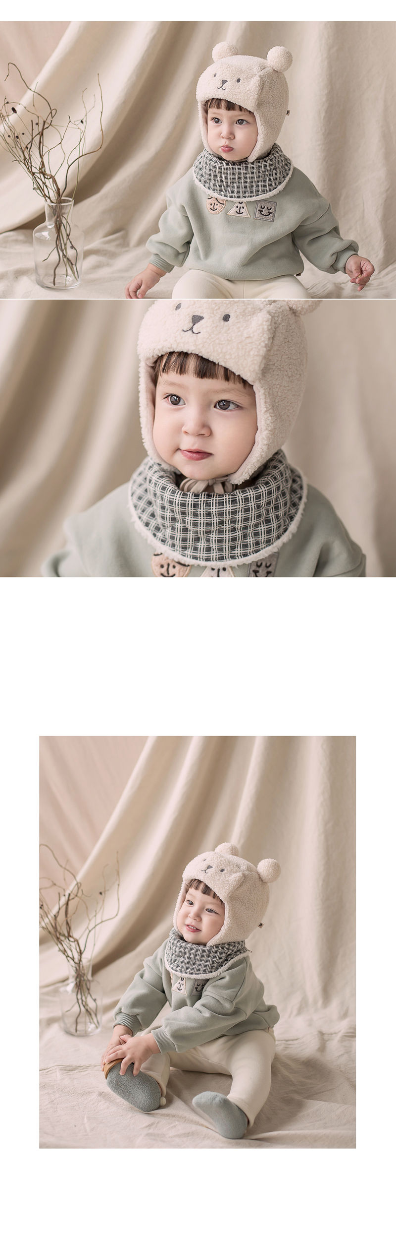 HAPPY PRINCE - Korean Children Fashion - #Kfashion4kids - Zeck Snow Banana Bib - 2