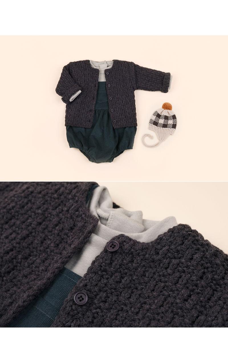 HAPPY PRINCE - Korean Children Fashion - #Kfashion4kids - Le Putti Knit Cardigan - 3