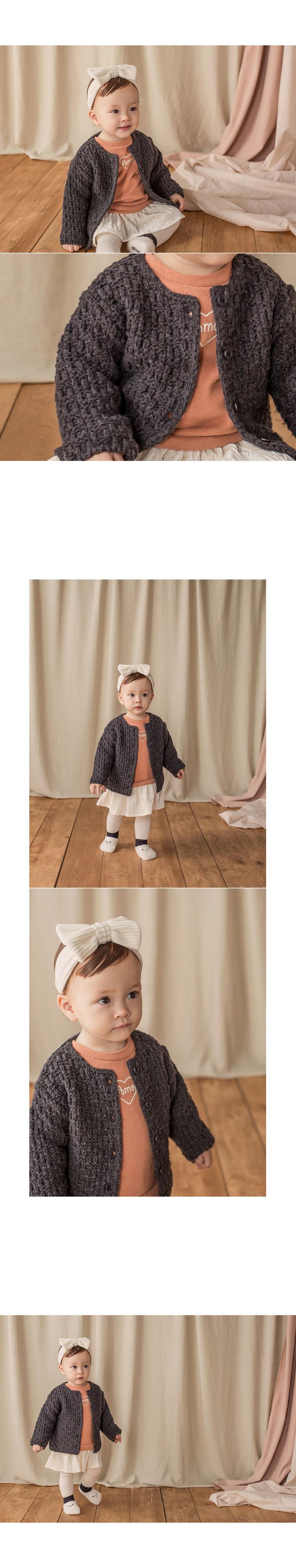 HAPPY PRINCE - Korean Children Fashion - #Kfashion4kids - Le Putti Knit Cardigan - 4