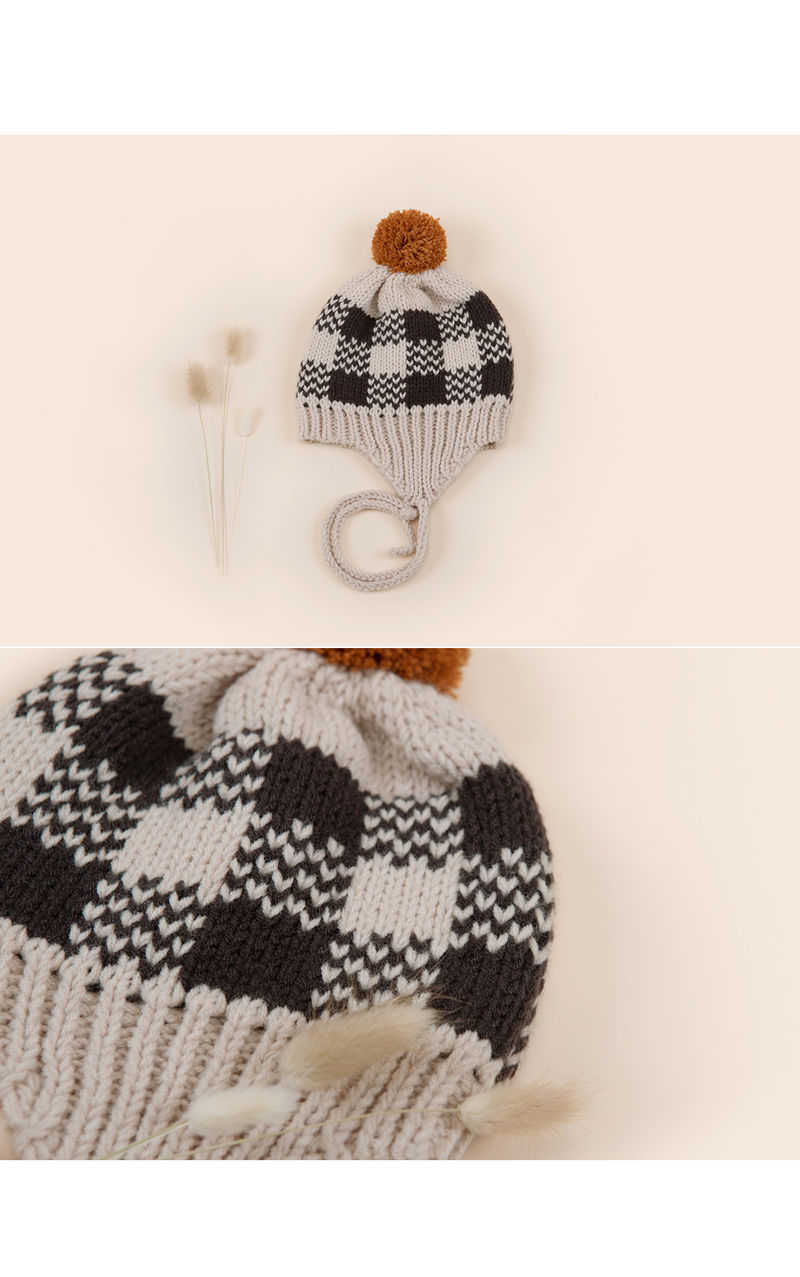 HAPPY PRINCE - Korean Children Fashion - #Kfashion4kids - Tomaen Pompom Woolly Hat - 3
