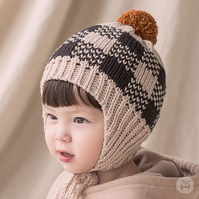 HAPPY PRINCE - BRAND - Korean Children Fashion - #Kfashion4kids - Tomaen Pompom Woolly Hat