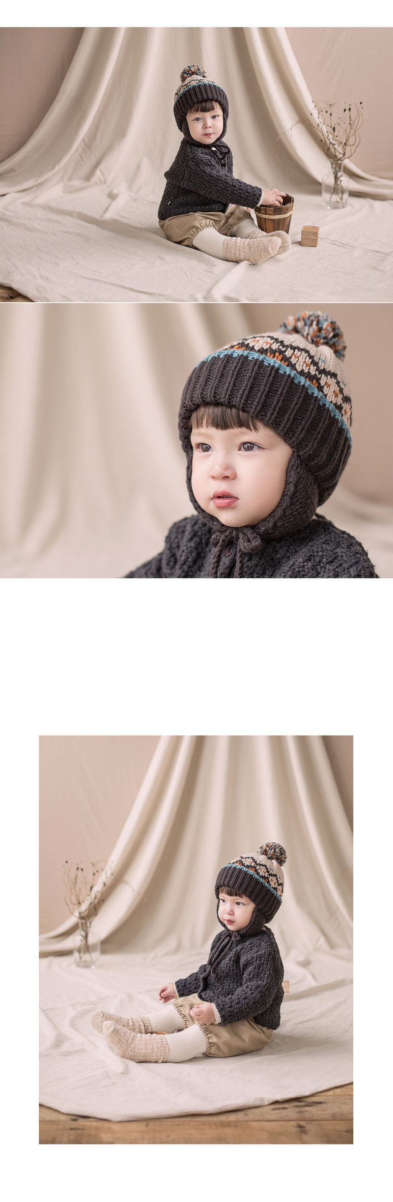 HAPPY PRINCE - Korean Children Fashion - #Kfashion4kids - Sylvia Pompom Woolly Hat - 2