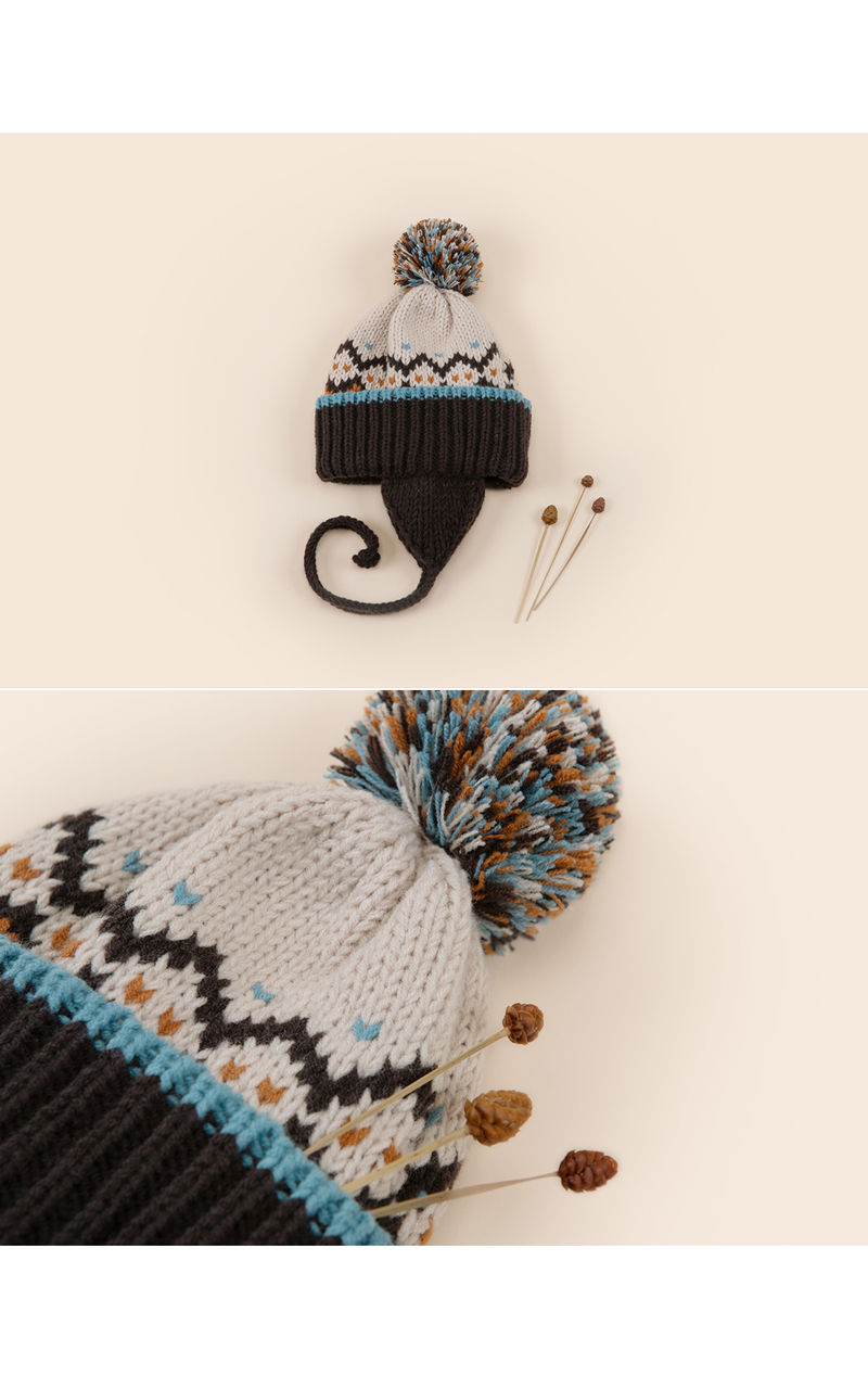 HAPPY PRINCE - Korean Children Fashion - #Kfashion4kids - Sylvia Pompom Woolly Hat - 3