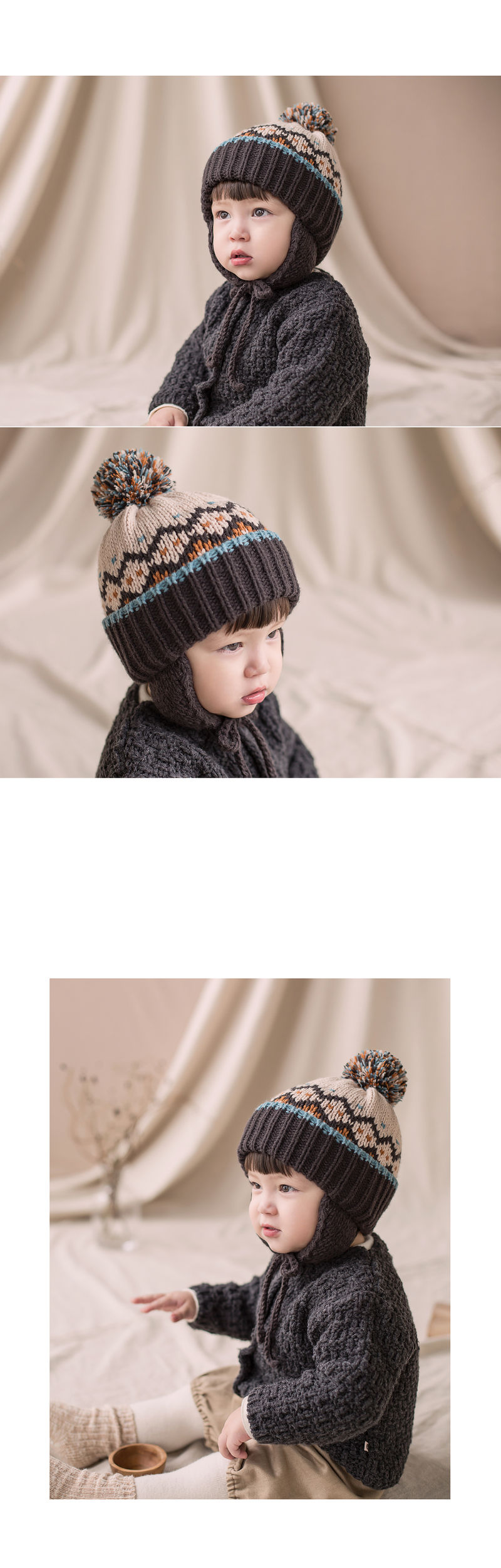 HAPPY PRINCE - Korean Children Fashion - #Kfashion4kids - Sylvia Pompom Woolly Hat - 4