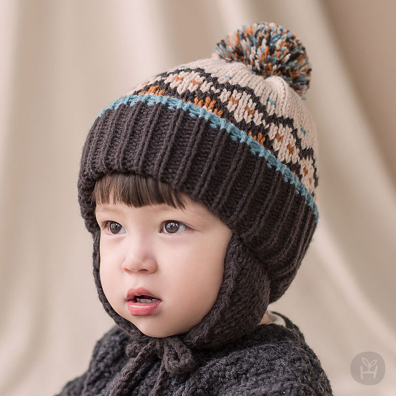 HAPPY PRINCE - BRAND - Korean Children Fashion - #Kfashion4kids - Sylvia Pompom Woolly Hat