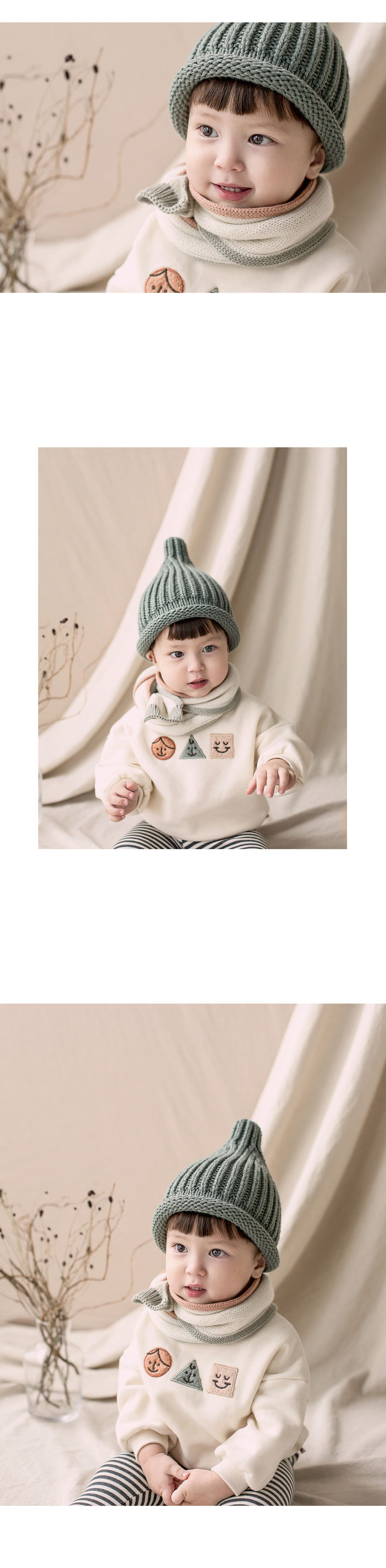 HAPPY PRINCE - Korean Children Fashion - #Kfashion4kids - Eden Knit Muffler - 2