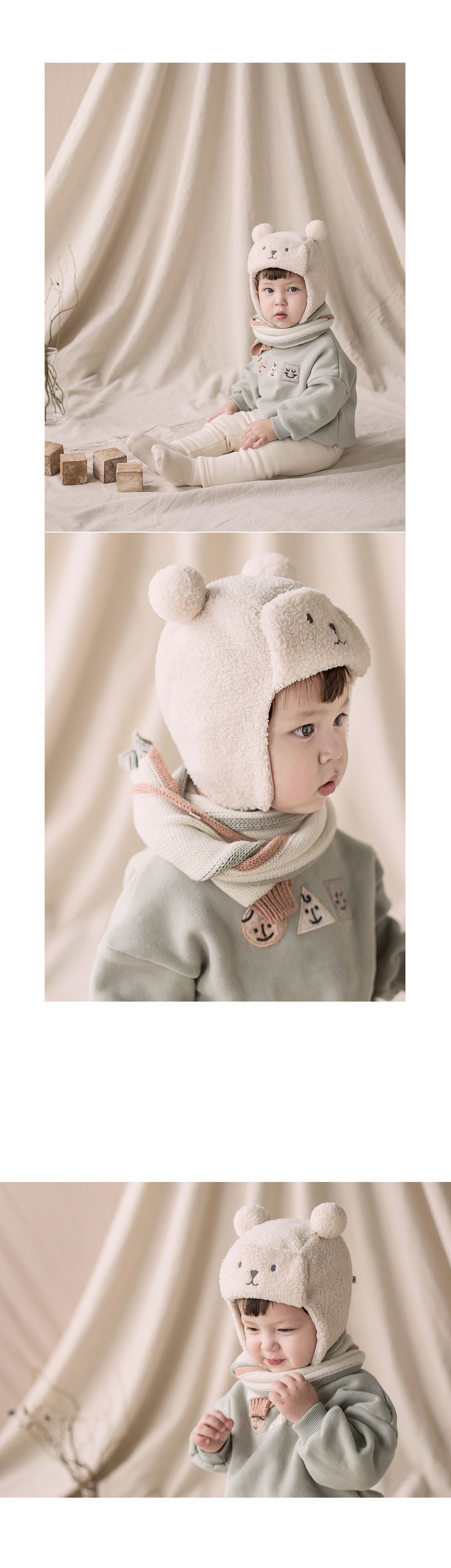 HAPPY PRINCE - Korean Children Fashion - #Kfashion4kids - Eden Knit Muffler - 4
