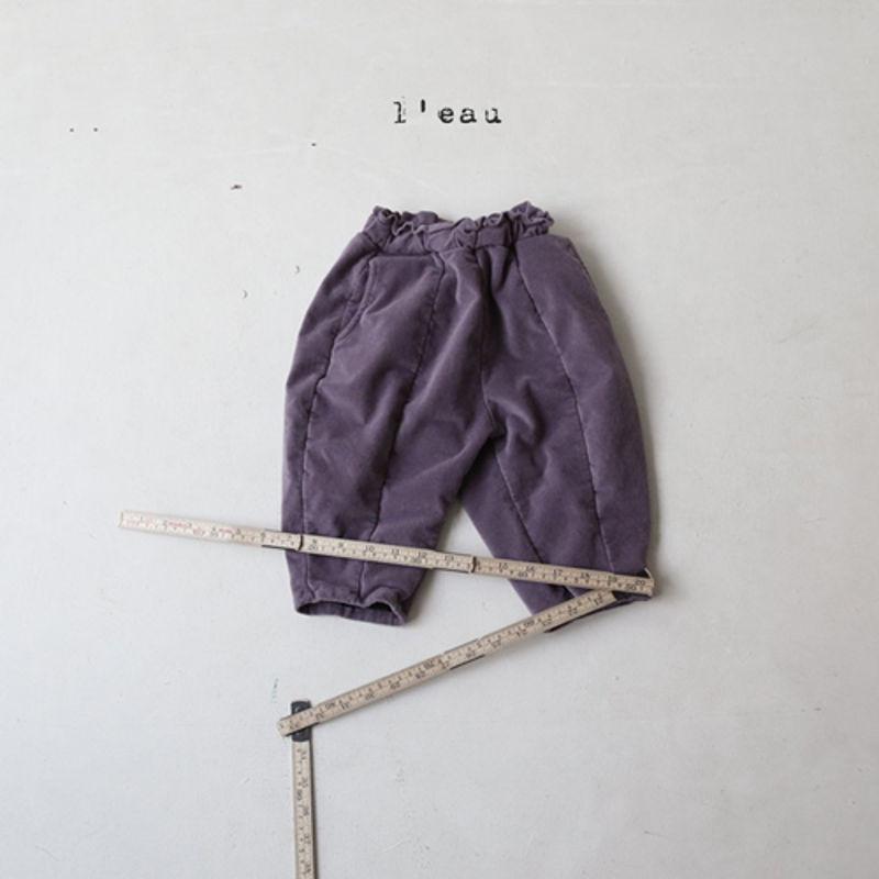 LEAU - Korean Children Fashion - #Kfashion4kids - Cotton Velvet Pants