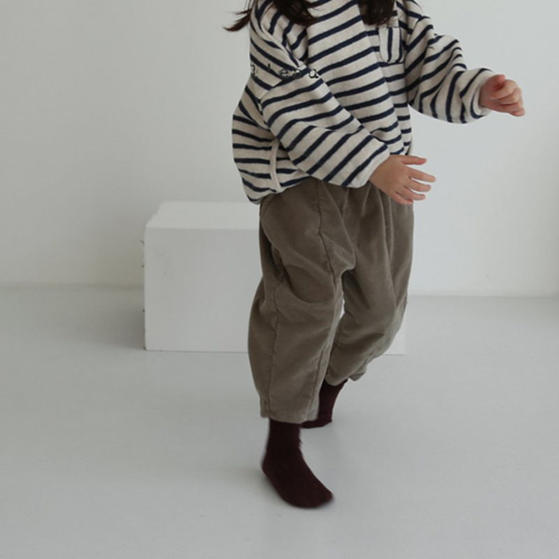 LEAU - Korean Children Fashion - #Kfashion4kids - Cotton Velvet Pants - 4