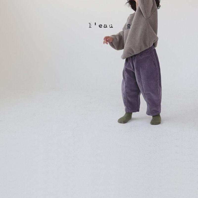 LEAU - Korean Children Fashion - #Kfashion4kids - Cotton Velvet Pants - 5