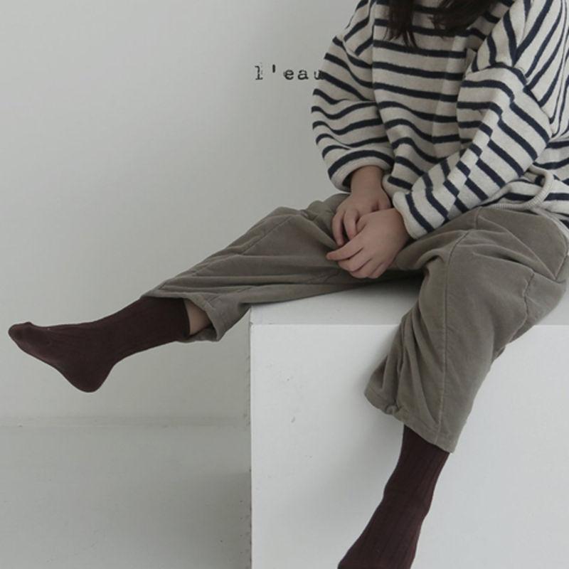 LEAU - Korean Children Fashion - #Kfashion4kids - Cotton Velvet Pants - 8