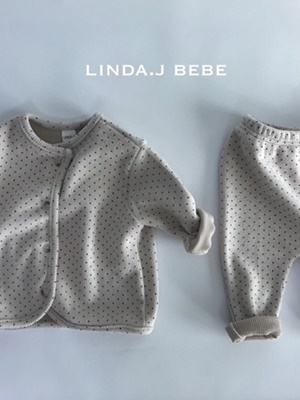 LINDA J - BRAND - Korean Children Fashion - #Kfashion4kids - Dot Top Bottom Set